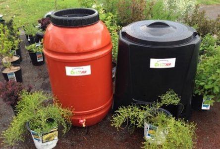 Distribution de 350 composteurs et barils récupérateurs d'eau de pluie
