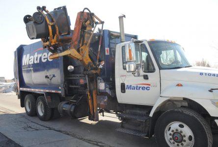Des changements à l'horaire des ordures et de la récupération