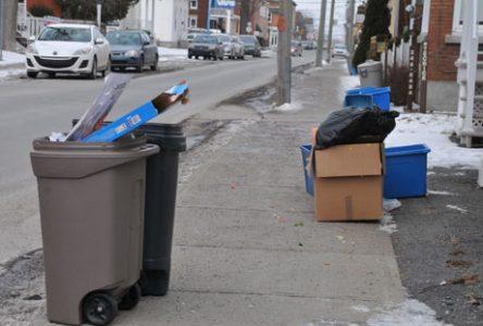 Les ordures ménagères une semaine à l'avance