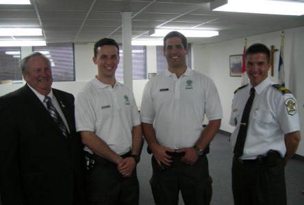 Des cadets de la SQ à Napierville