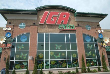 Un IGA Extra dans l'ancien bois Douglas