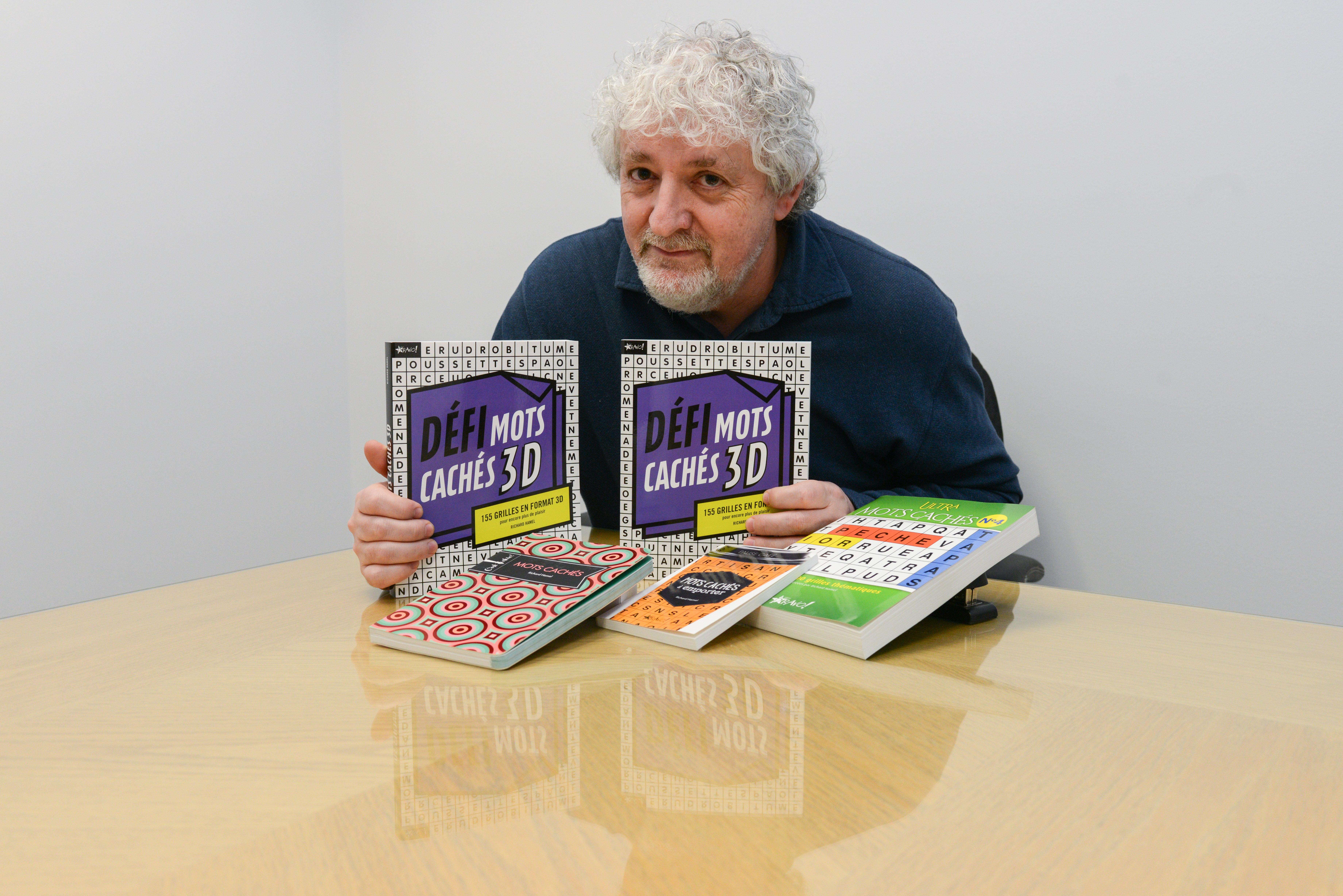 Richard Hamel invente les mots cachés 3D