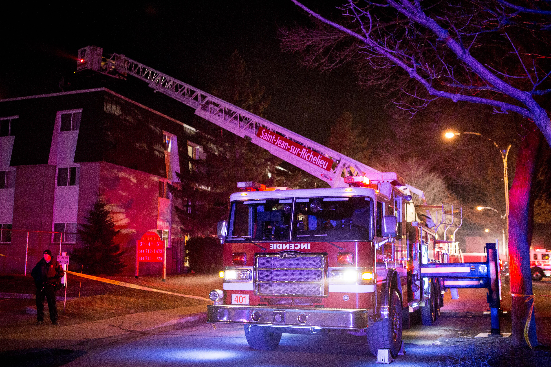 Incendie dans un immeuble à logements