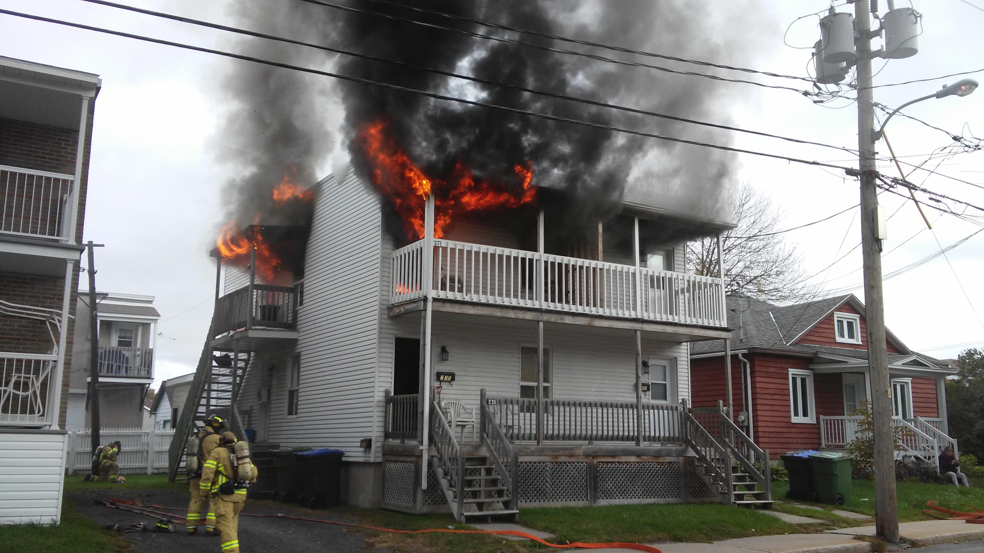 Incendie dans le quartier St-Edmond