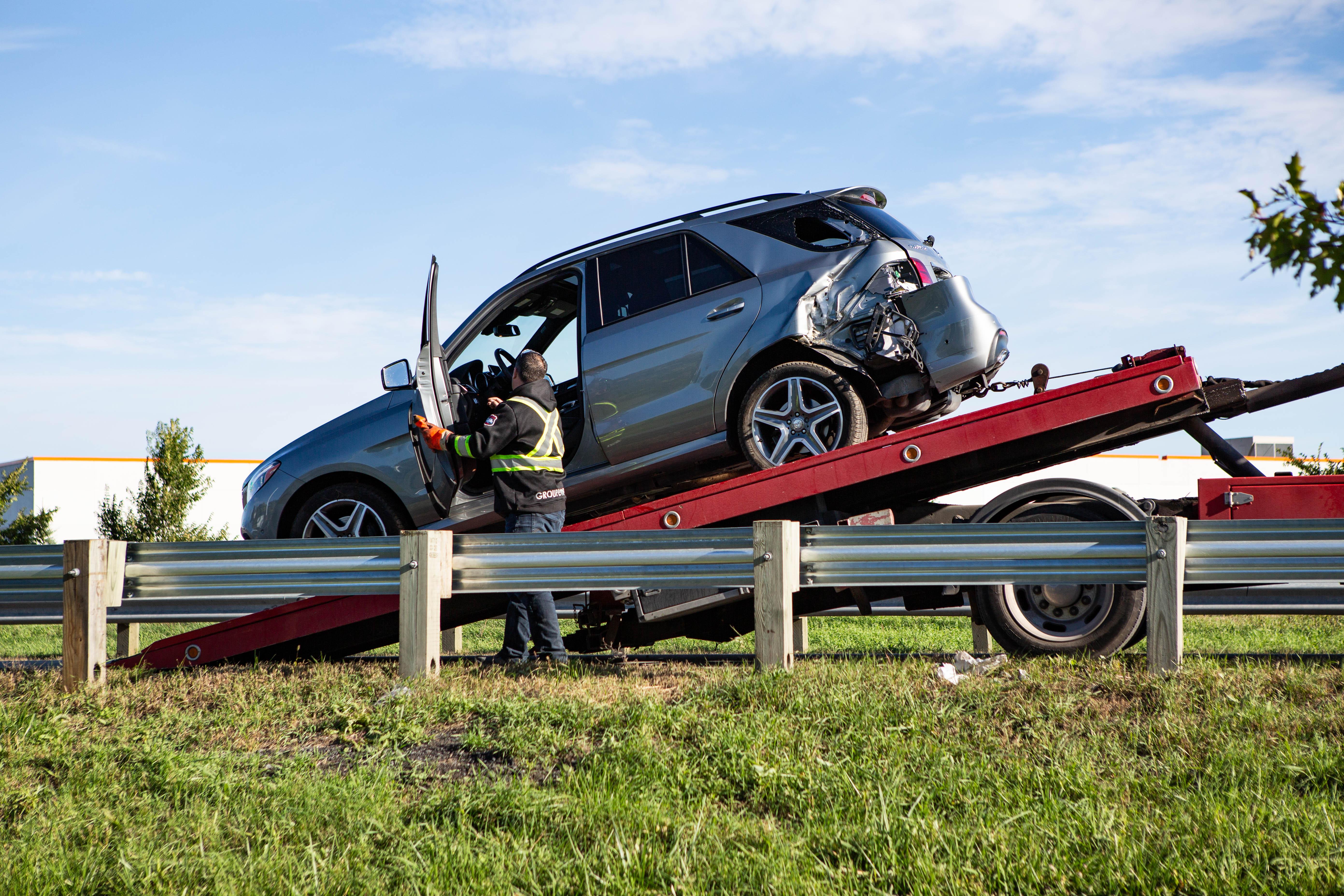 Trois voitures impliquées dans un accident