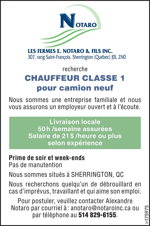 CHAUFFEUR CLASSE 1