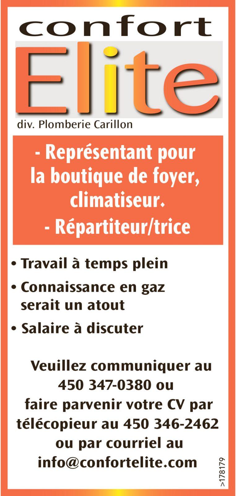– Représentant pour la boutique de foyer, climatiseur. – Répartiteur/trice