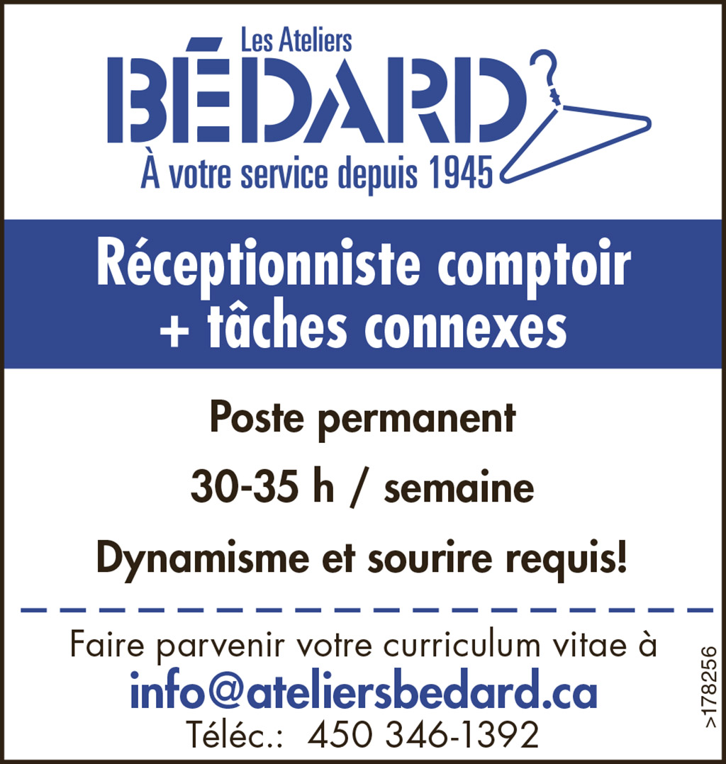 Logo de Réceptionniste comptoir + tâches connexes