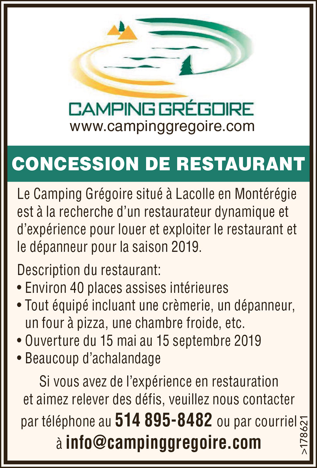 CONCESSION DE RESTAURANT