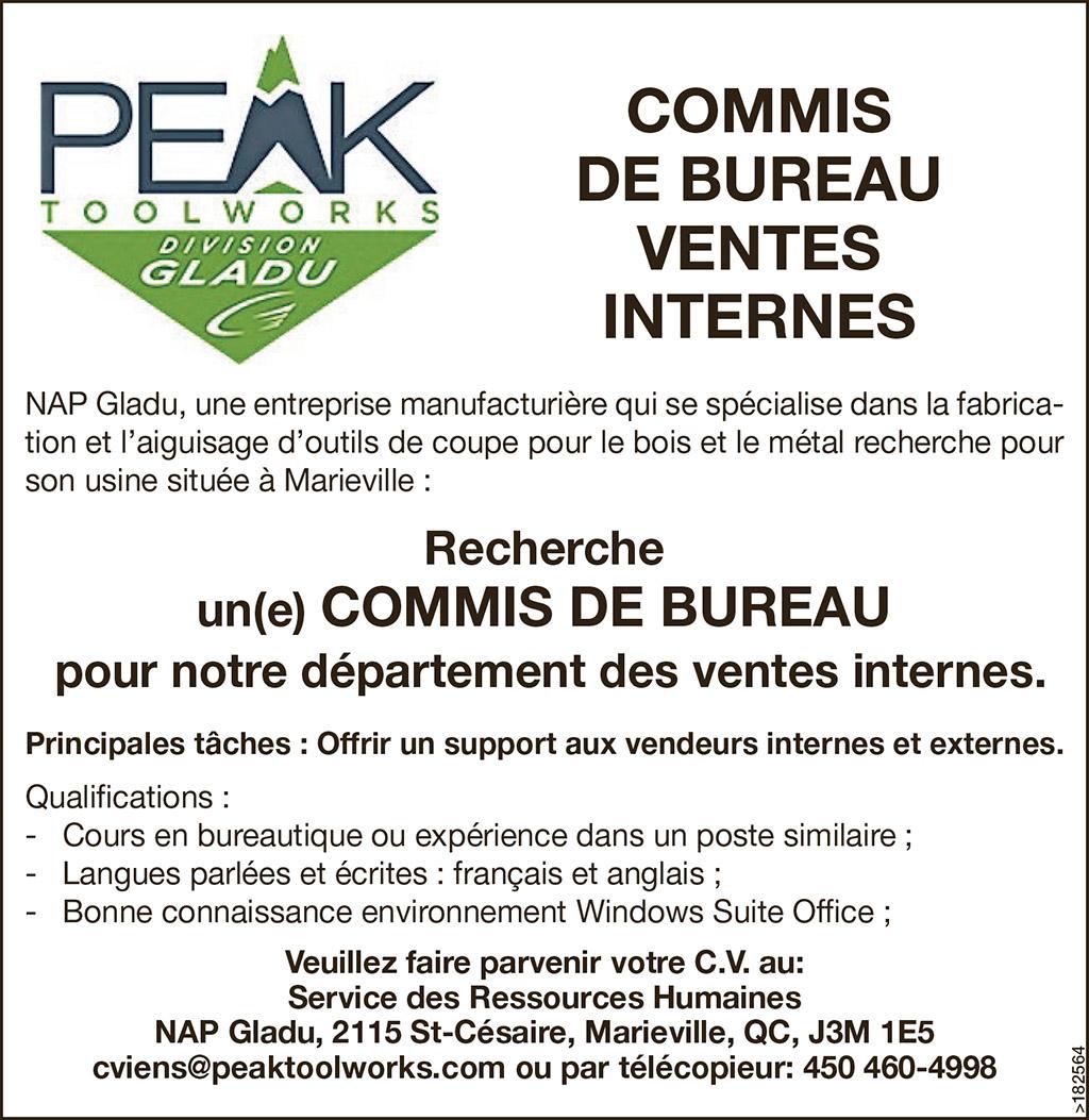 COMMIS DE BUREAU