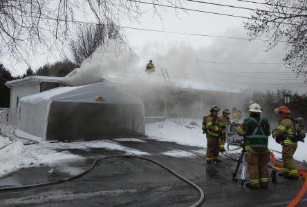 Une maison endommagée par un incendie d'origine électrique