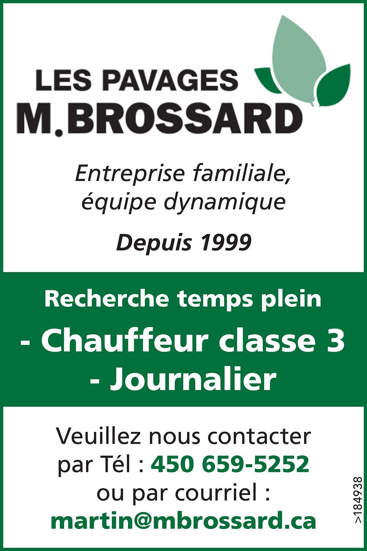 Chauffeur classe 3 – Journalier