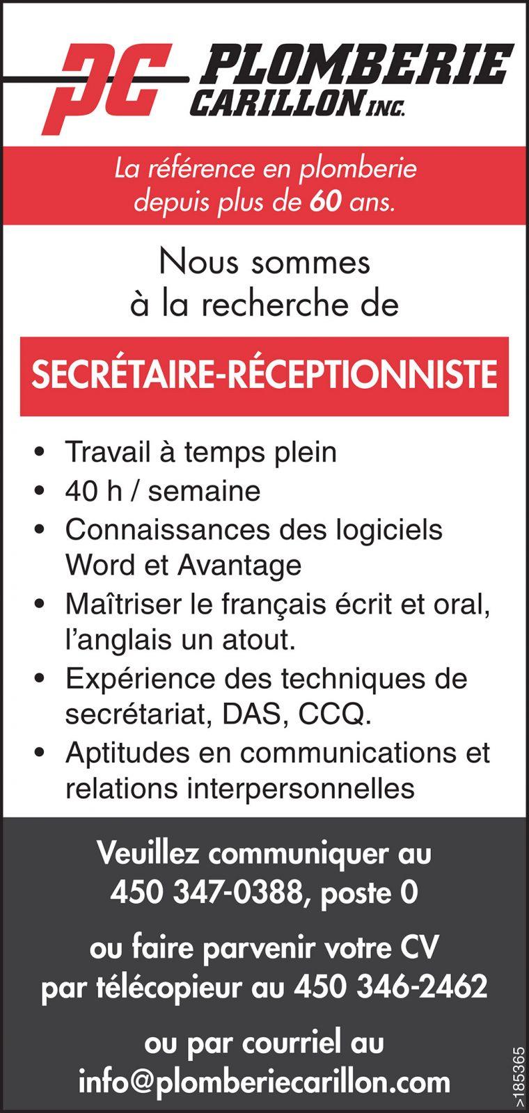 Secrétaire-Réceptionniste