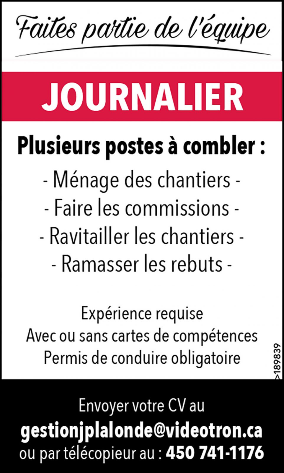 Logo de Journalier