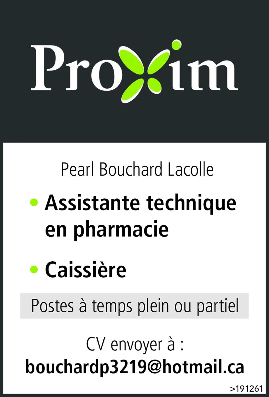 • Assistante technique en pharmacie • Caissière