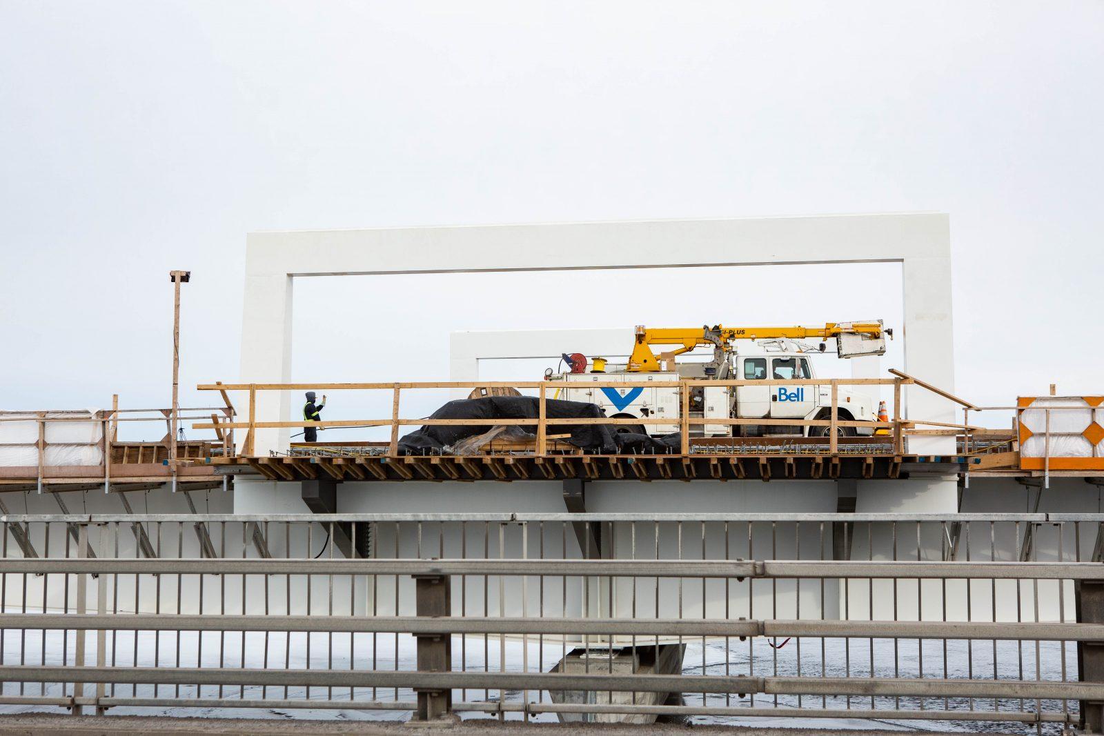 Six semaines d'entraves sur le chantier du pont