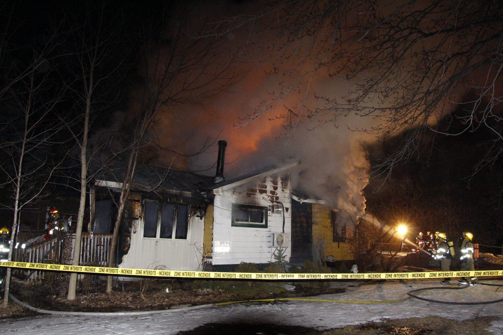 Incendie mortel à Lacolle