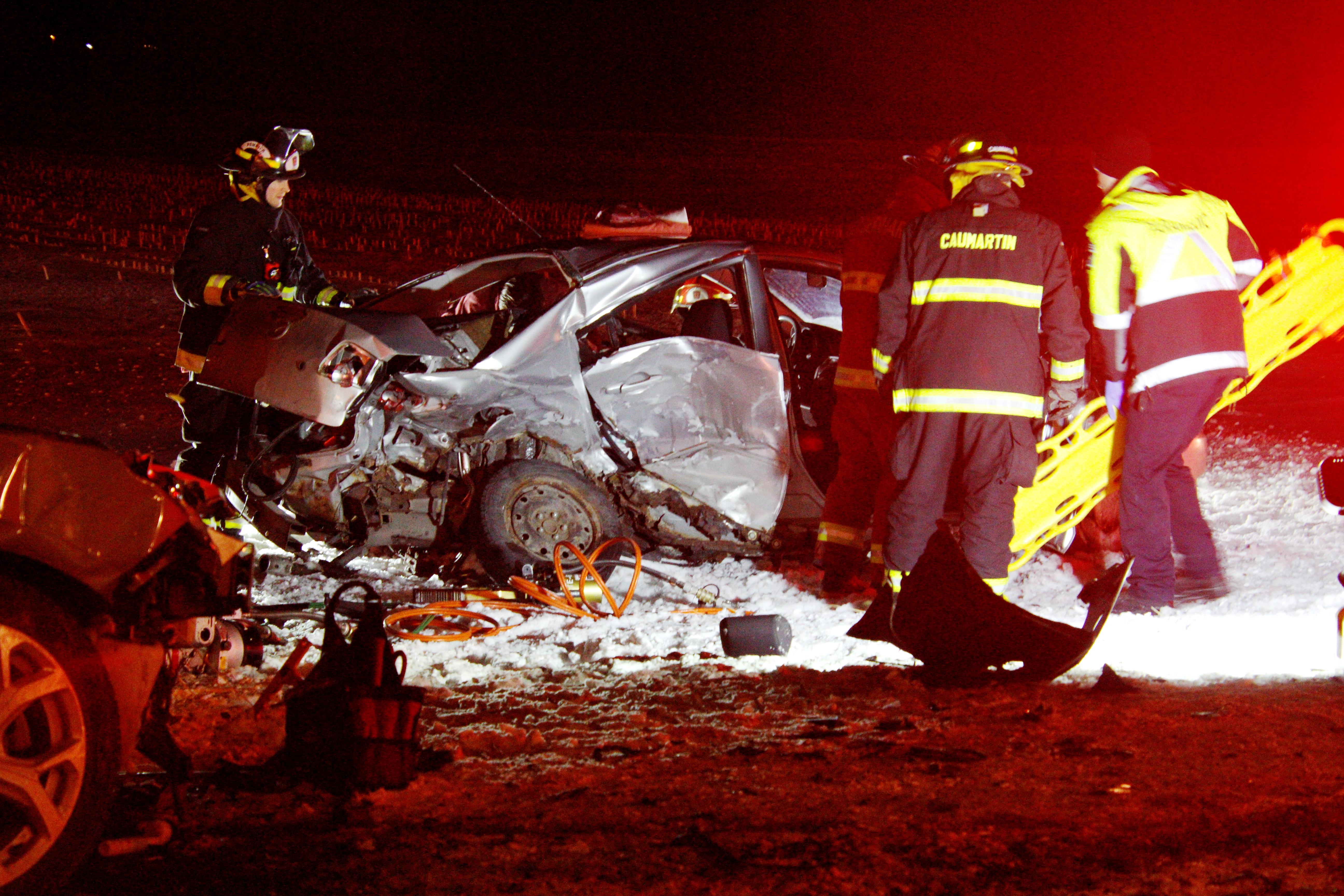 Sept véhicules dans un accident à Mont-Saint-Grégoire