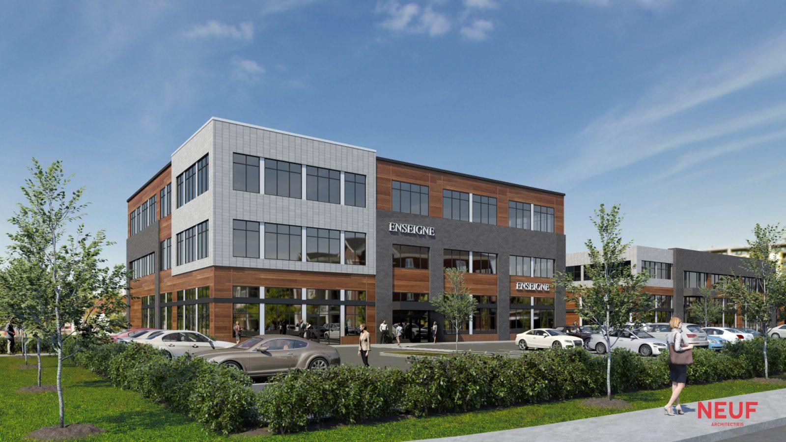 Un immeuble de bureaux construit au Faubourg St-Jean