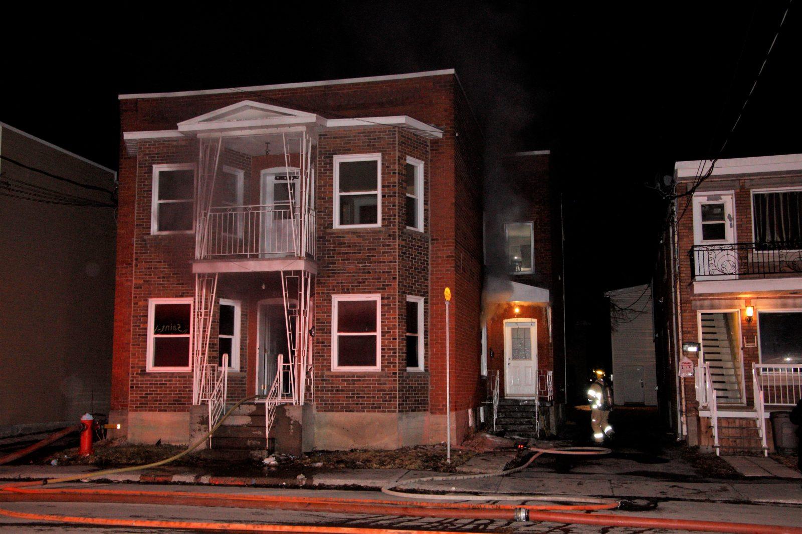 Incendie suspect sur la rue Laurier