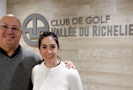Une Johannaise au Club de golf de la Vallée du Richelieu