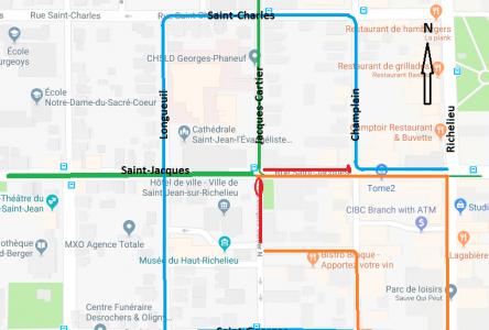 Entrave majeure au centre-ville jeudi