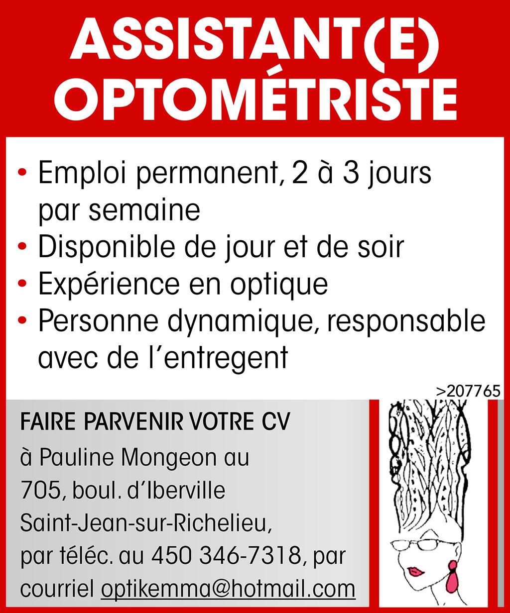 ASSISTANT(E) OPTOMÉTRISTE