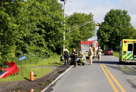 Accident à Saint-Blaise-sur-Richelieu