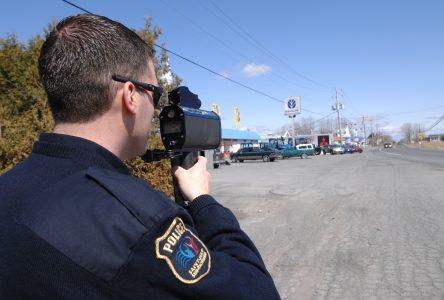 La vitesse dans le viseur des policiers