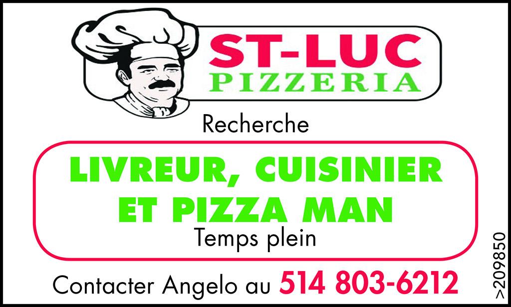 Logo de Livreur, Cuisinier, et Pizza Man
