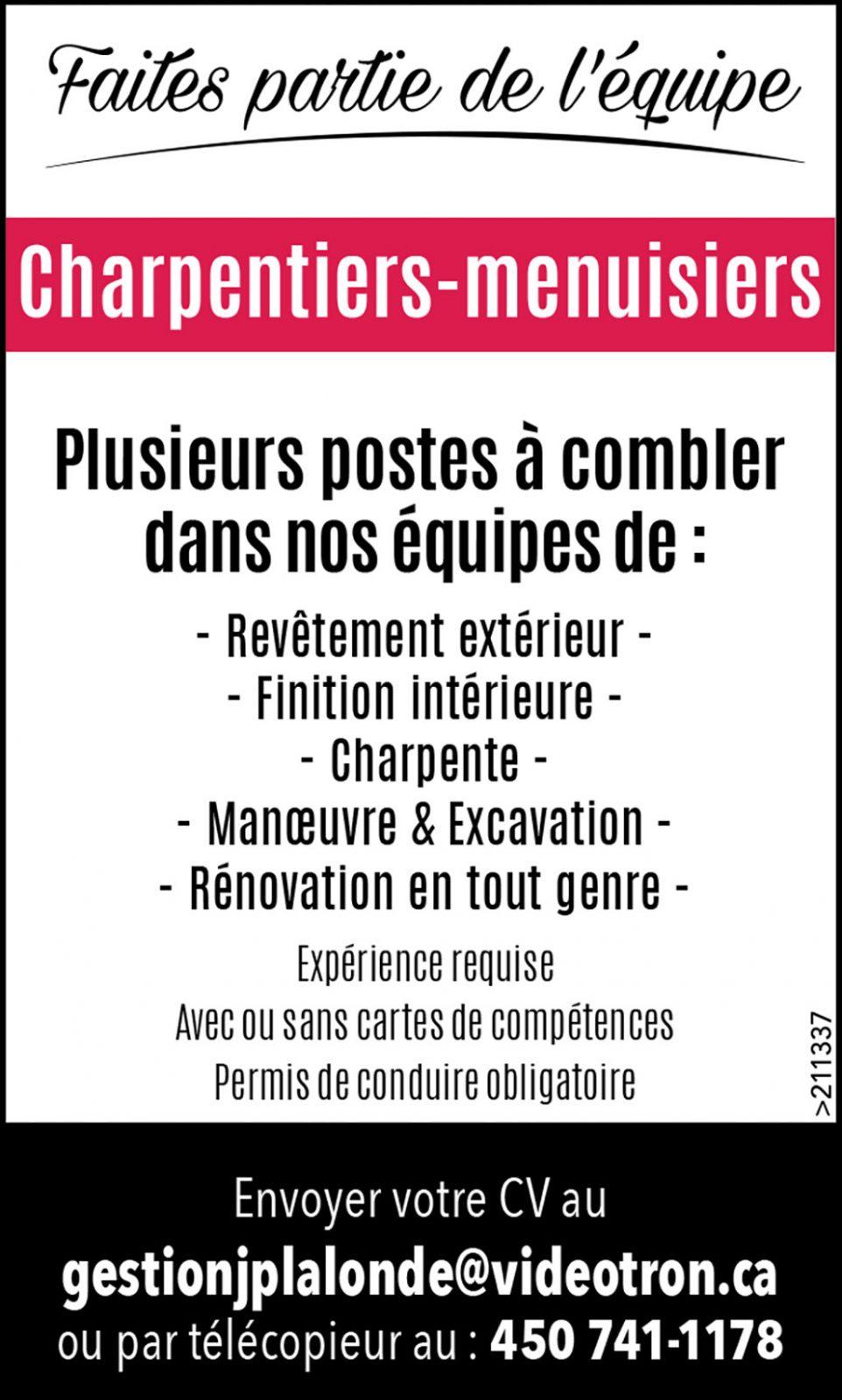 Logo de Charpentiers-menuisiers