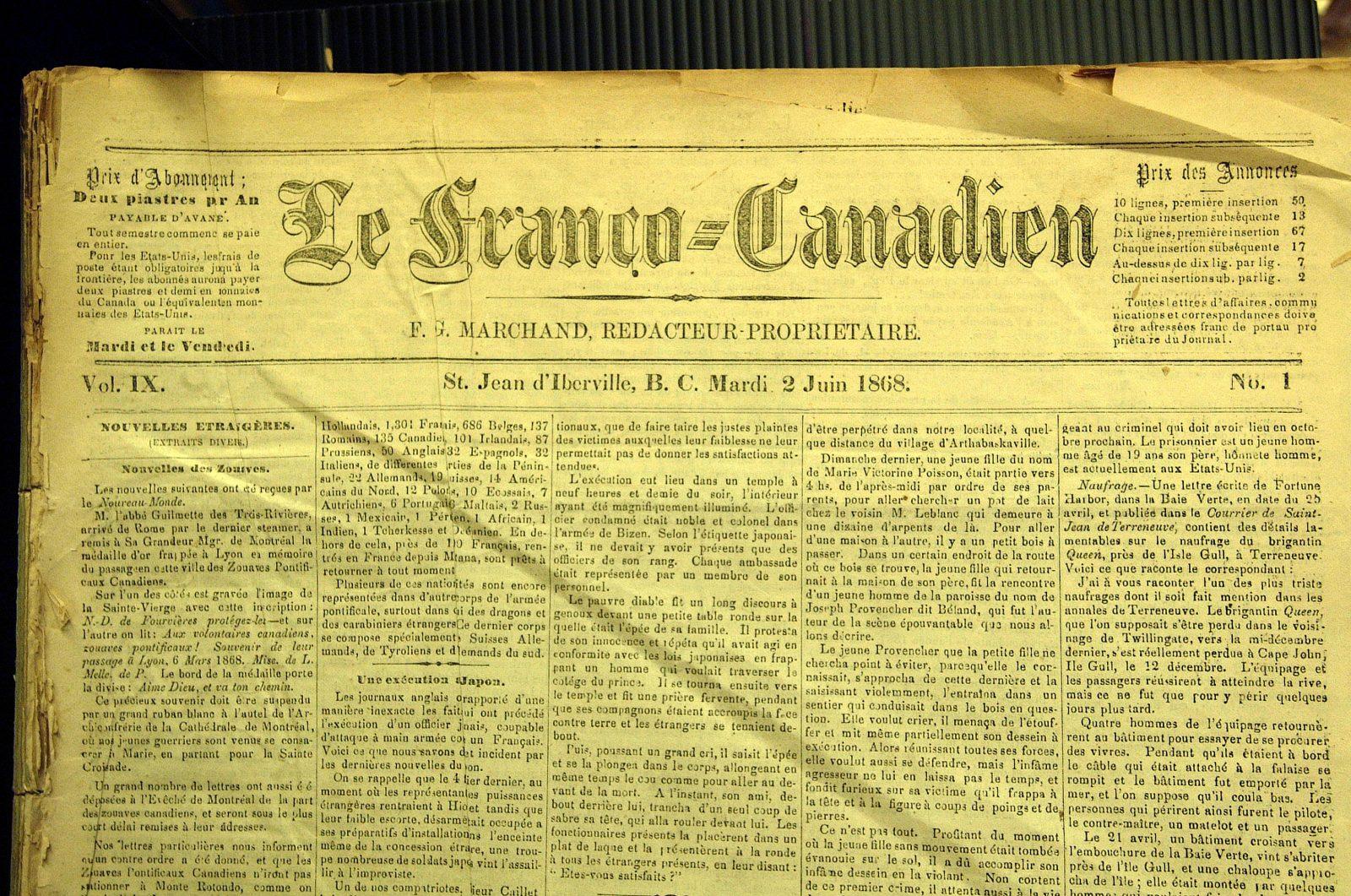Le Canada Français : le virage vers la presse d'information