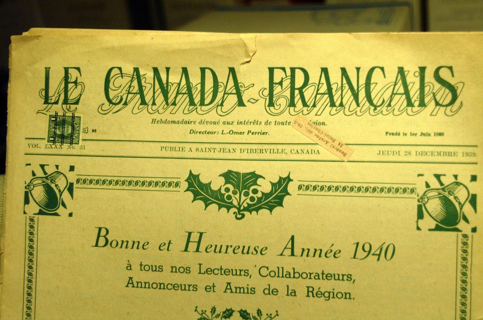 Le Canada Français : le passage au format tabloïd