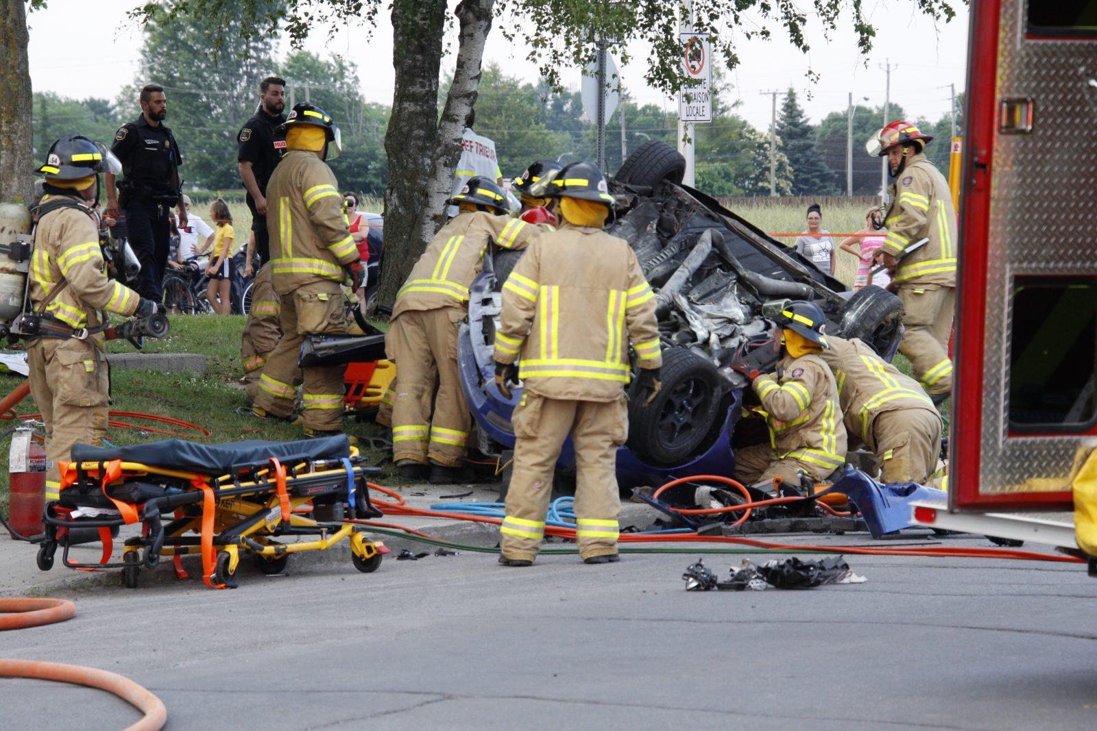 Grave accident sur la rue Gaudette