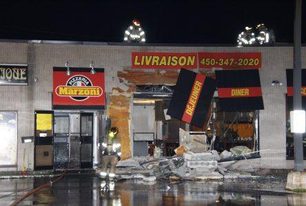 Explosion dans une pizzéria à Saint-Jean