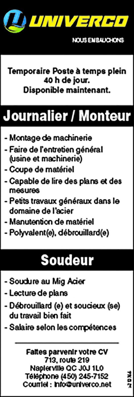Logo de Journalier / Monteur