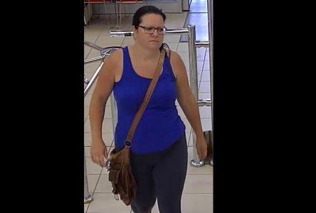Une femme recherchée pour vol