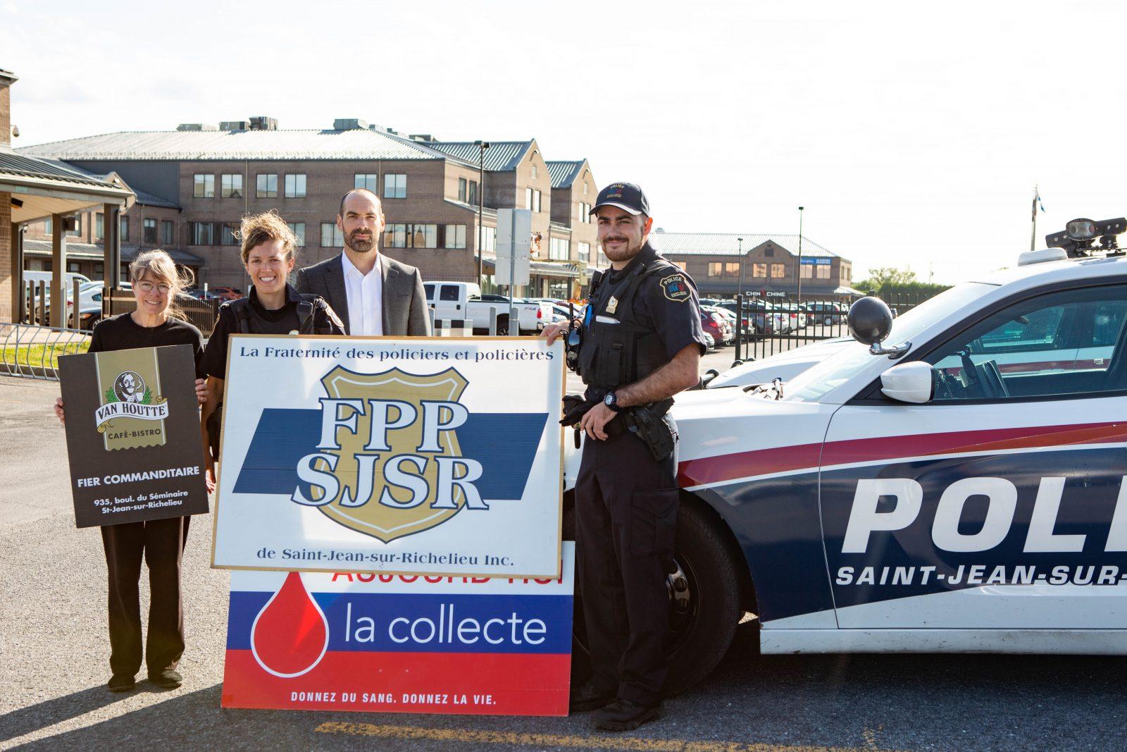 Les policiers vous invitent à leur collecte de sang