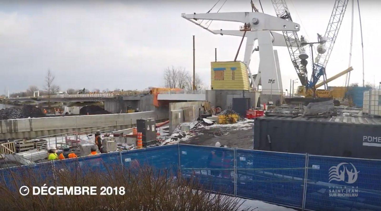 Une impressionnante vidéo de la construction du pont Gouin