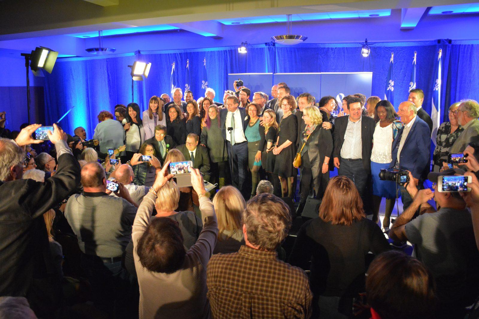 Blanchet livre un discours féministe et très nationaliste à Saint-Jean