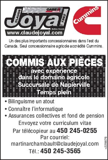 COMMIS AUX PIÈCES