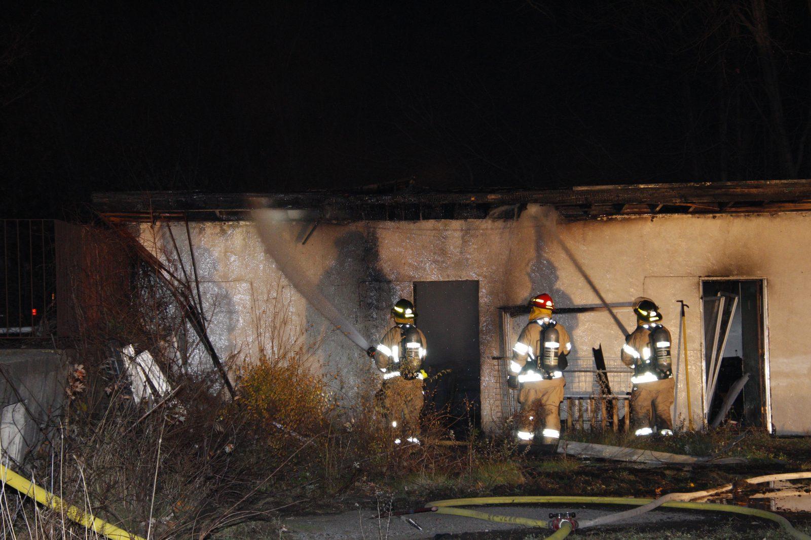 Incendie suspect dans un motel désaffecté