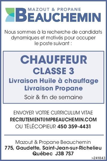 Logo de CHAUFFEUR CLASSE 3