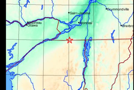 Léger tremblement de terre dans la région