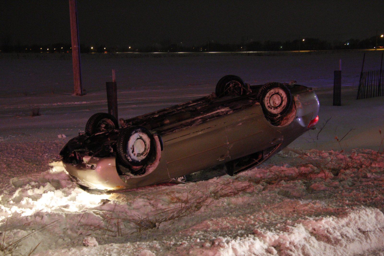 La tempête a causé plusieurs sorties de route sans gravité