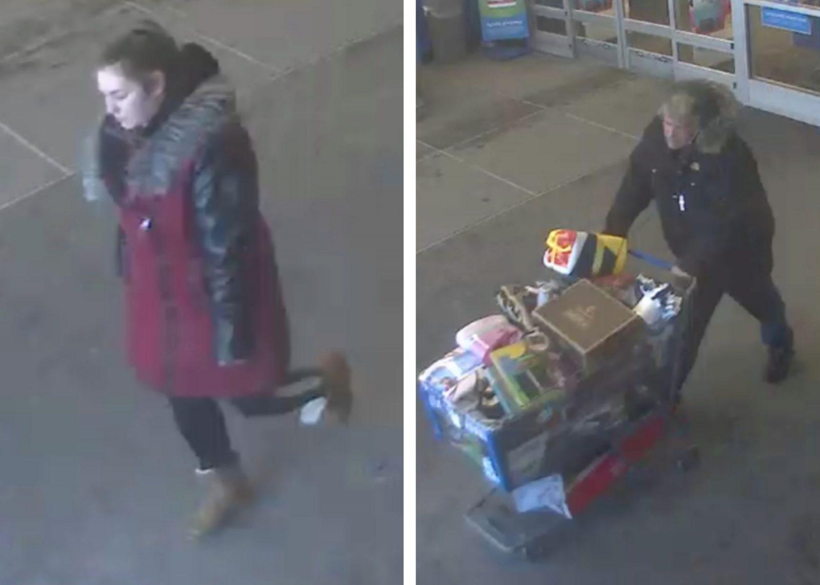 Deux suspects recherchés pour vol à l'étalage