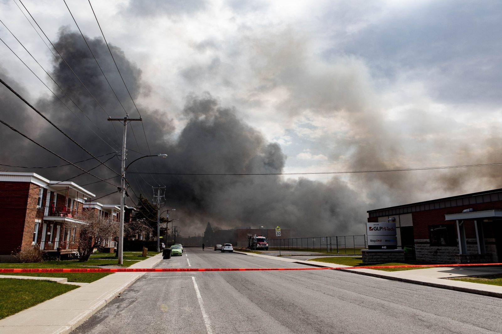 Les émanations du panache de fumée jugées sans danger pour les résidents