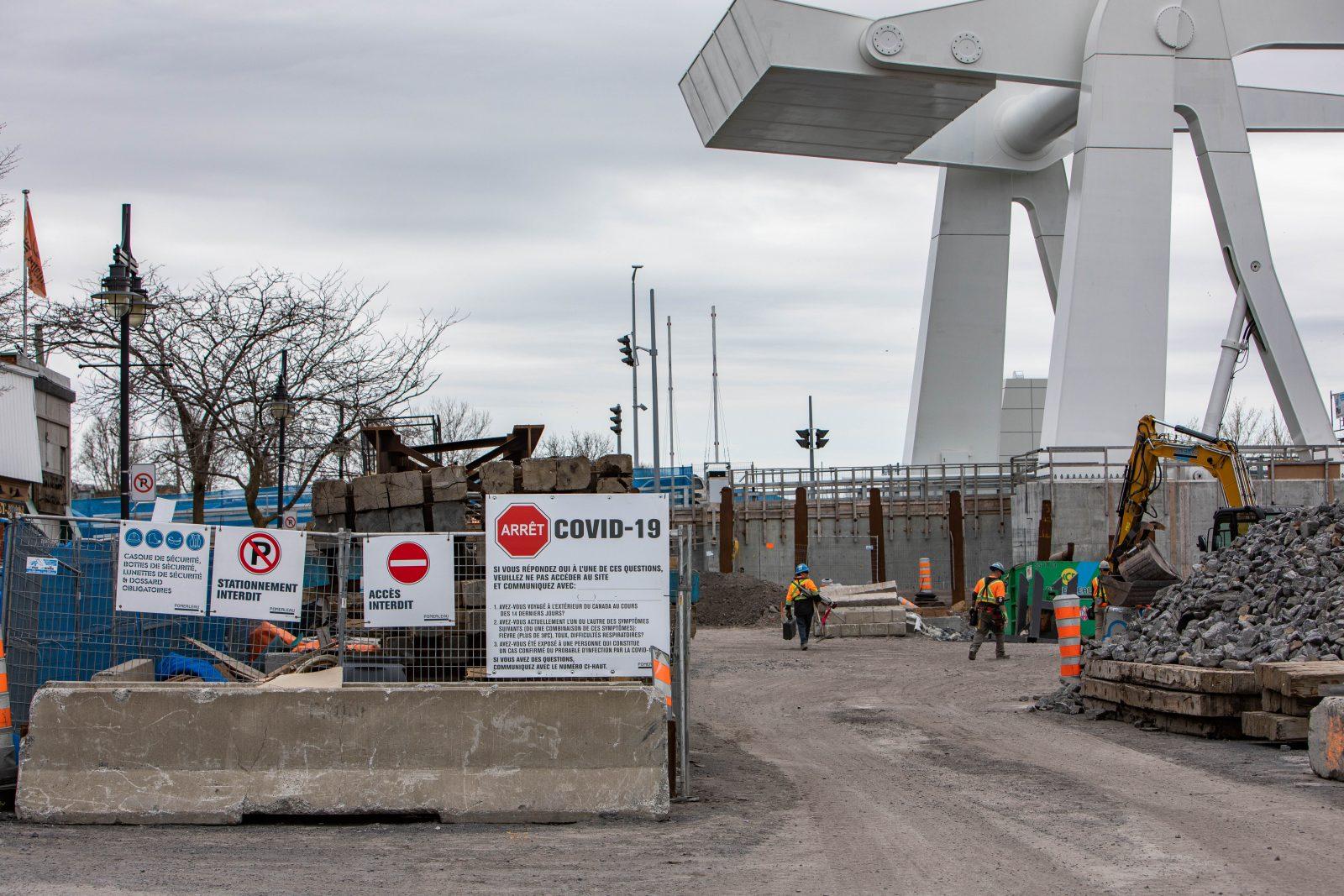 Cinq soirs de travaux d'excavation sur le chantier du pont Gouin