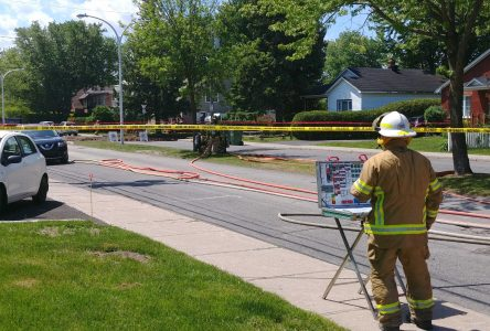 Fuite de gaz à l'intersection des rues Cousins et Trahan