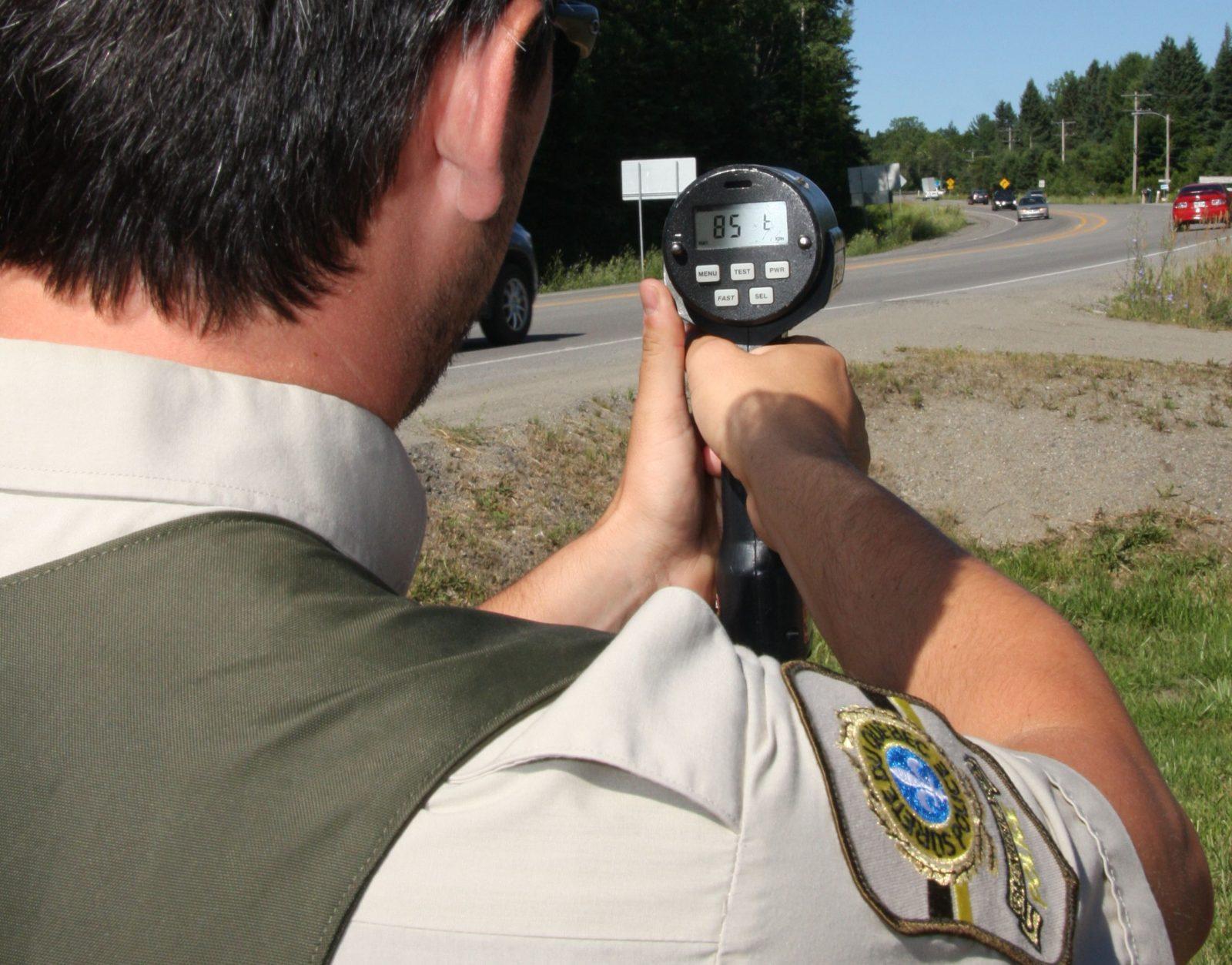Opération policière concertée contre la vitesse